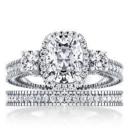 Halo Bridal Set