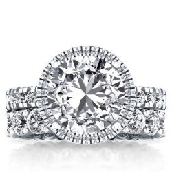 Halo Eternity Created White Sapphire Bridal Set (7.02 CT. TW.)
