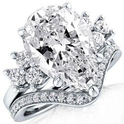 2 Carat Pear Shaped Diamond Ring
