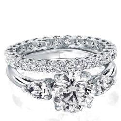 Solitaire Eternity Bridal Set
