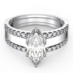 Italo Embedded Marquise Created White Sapphire 3PC Wedding Set