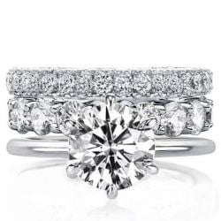 Solitaire Eternity 3PC Wedding Set (9.20 CT. TW.)