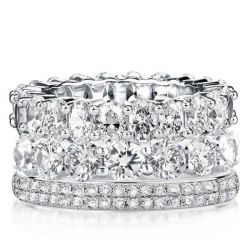 White Sapphire Stackable Band Set