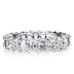 Italo Oval Eternity Created White Sapphire Wedding Band