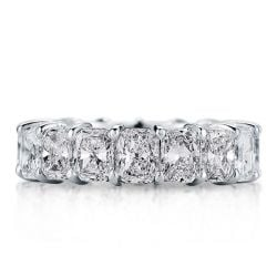 Italo Radiant Eternity Created White Sapphire Wedding Band