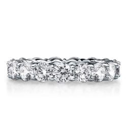 Italo Eternity Created White Sapphire Wedding Band