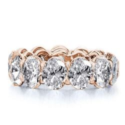 Italo Rose Gold Eternity Created White Sapphire Wedding Band