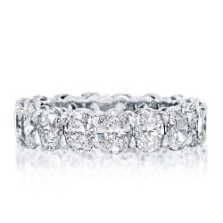 Italo Eternity Oval Created White Sapphire Wedding Band