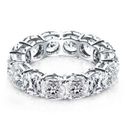 Italo Cushion Eternity Created White Sapphire Wedding Band