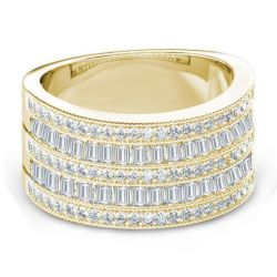 Golden Art Deco Wedding Band (4.22 CT. TW.)