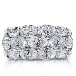 Triple Row Oval Eternity Wedding Band