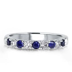Blue And White Sapphire Band