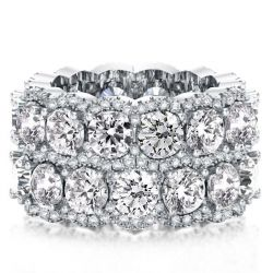 Italo Double Row Halo Created White Sapphire Wedding Band