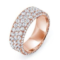 Rose Gold Micro Pave Wedding Band