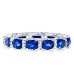 Italo Oval Created Sapphire Wedding Band(3.25 CT. TW.)