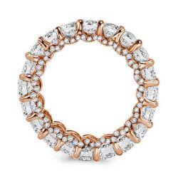 Rose Gold Eternity Created White Sapphire Wedding Band