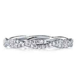 White Gold Twisted Wedding Band