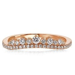 Rose Gold Crown Design Chevron Unique Wedding Band(2.15 CT. TW.)
