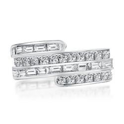 Multi-Row Special Design Round & Baguette Wedding Band