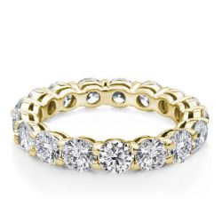Round Cut Diamond Gold Band