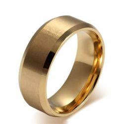 Gold Men Wedding Band