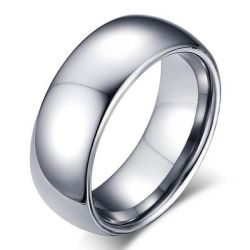 Italo Classic Titanium Steel Men's Wedding Band