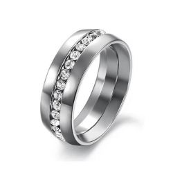Classic Titanium Steel Men's Wedding Band