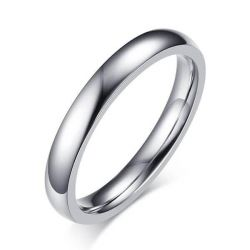 Italo Simple Glaze Titanium Steel Men's Wedding Band