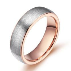 Two Tone Titanium Steel Men's Wedding Band