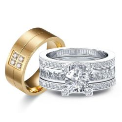 Cathedral Interchangeable Trio Matching Wedding Set