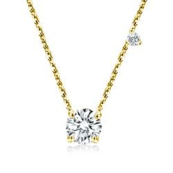 Golden Round Cut Pendant Necklace
