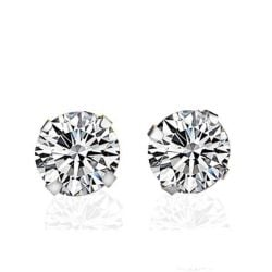 Italo Classic Created White Sapphire Stud Earrings