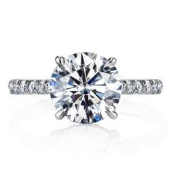 Big Round Engagement Rings