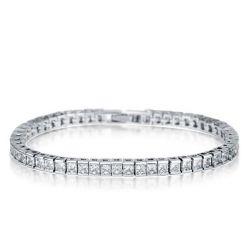 Italo Classic Created White Sapphire Tennis Bracelet