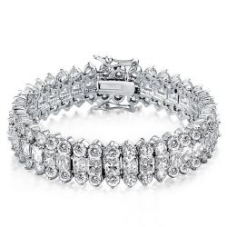 Triple Row Radiant Tennis Bracelet