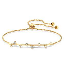 Golden Scattered Round Cut Bracelet