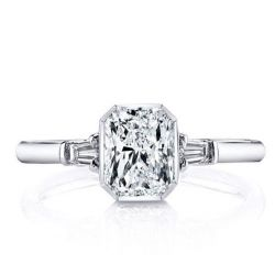Three Stone Solitaire Engagement Ring