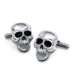 Italo Skull Sterling Silver Cufflinks