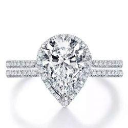 White Sapphire Bridal Set