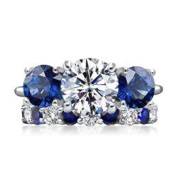 3 Stone Bridal Ring Sets
