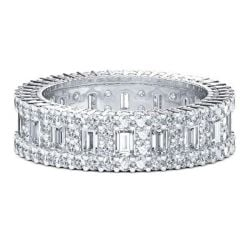 Italo Eternal Created White Sapphire Wedding Band (4.53 CT. TW.)
