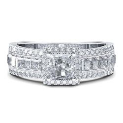 Italo Classic Created White Sapphire Engagement Ring
