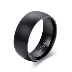 Italo Simple Classic Titanium Steel Men's Wedding Band