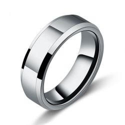 Italo Glaze Titanium Steel Men's Wedding Band