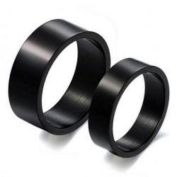 Black Titanium Couple Rings
