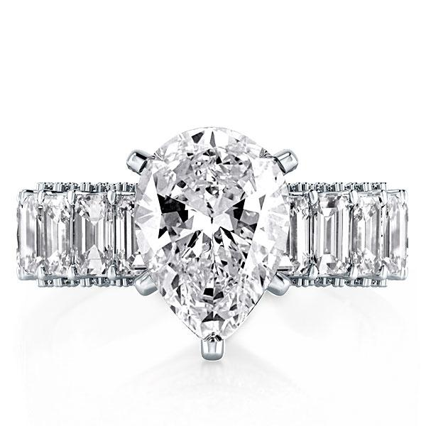 Eternity Pear Engagement Ring(6.88 CT. TW.), White