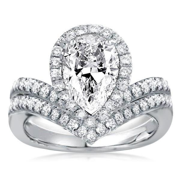 What should I know to when buying a pear shaped wedding ring?