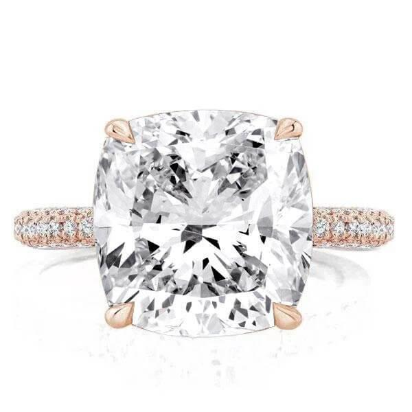 Why the halo cut engagement rings are trendy style