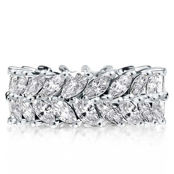 Popular Settings For Marquise Engagement Ring With Wedding Band