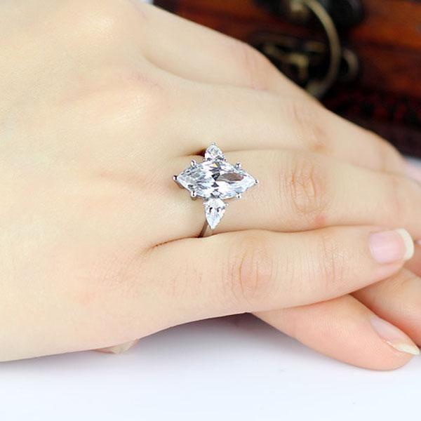 Marquise Cut Engagement Rings- A Unique Gift For The Bride